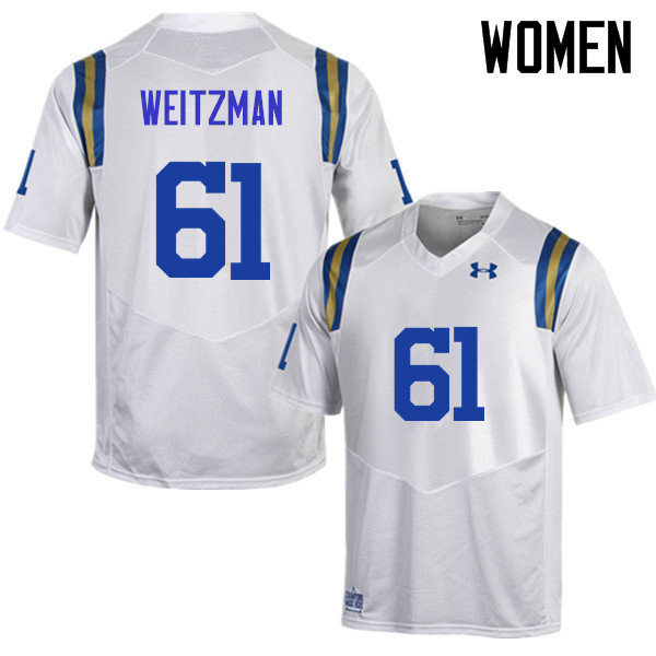 Women #61 Bryan Weitzman UCLA Bruins Under Armour College Football Jerseys Sale-White